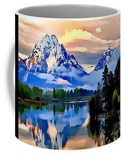 Coffee Mug featuring the painting Some Place Some Where by Catherine Lott