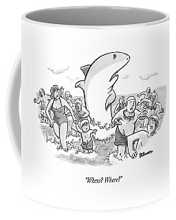 Someone Has Just Yelled Shark! At The Beach Coffee Mug