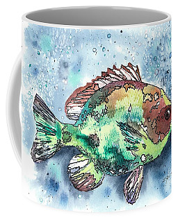 Coffee Mug featuring the painting Something's Fishy by Barbara Jewell