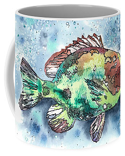 Coffee Mug featuring the painting Something's Fishy Two by Barbara Jewell