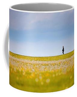 Sometimes We All Walk Alone Coffee Mug by Karol Livote