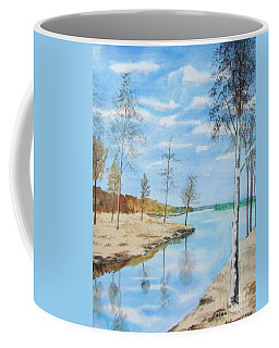 Coffee Mug featuring the painting Somewhere In Dalarna by Martin Howard