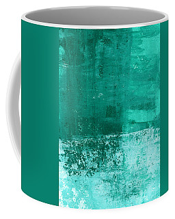 Soothing Sea - Abstract Painting Coffee Mug by Linda Woods