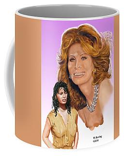 Coffee Mug featuring the digital art Sophia Loren by Thomas J Herring