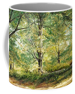 Coffee Mug featuring the painting Sorica Mountain by Sorin Apostolescu