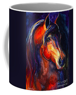 Soulful Horse Painting Coffee Mug by Svetlana Novikova