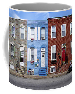 Coffee Mug featuring the photograph South Baltimore Row Homes by Brian Wallace