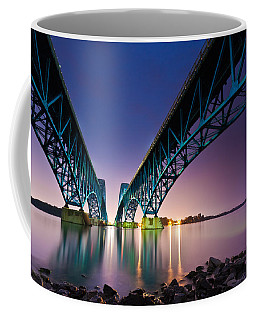 South Grand Island Bridge Coffee Mug by Mihai Andritoiu