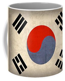 South Korea Flag Vintage Distressed Finish Coffee Mug