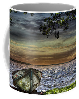 South Manistique Lake With Rowboat Coffee Mug