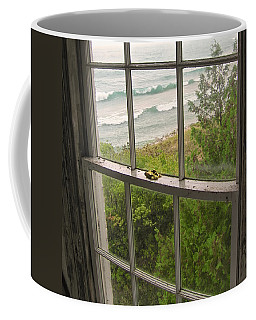 South Manitou Island Lighthouse Window Coffee Mug