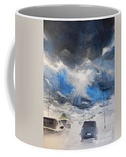 South Maple Road   Ann Arbor Michigan Coffee Mug by Yoshiko Mishina