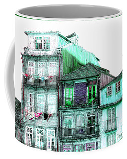 South Side Of Town-featured In Old Buildings And Ruins Group Coffee Mug