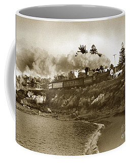 Southern Pacific Del Monte Passenger Train Pacific Grove Circa 1954 Coffee Mug