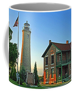 Coffee Mug featuring the photograph Southport Lighthouse On Simmons Island by Kay Novy