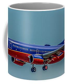 Southwest 737 Landing Coffee Mug by Paul Freidlund