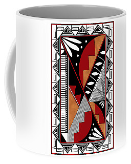 Southwest Collection - Design Seven In Red Coffee Mug