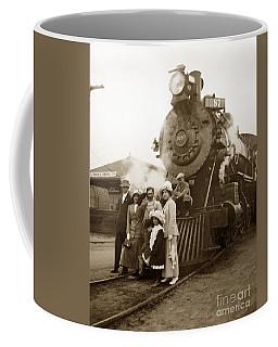 S P Baldwin Locomotive 2285  Class T-26 Ten Wheel Steam Locomotive At Pacific Grove California 1910 Coffee Mug