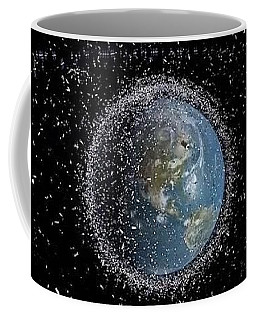 Coffee Mug featuring the photograph Space Junk by Science Source