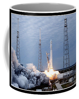 Spacex-2 Mission Launch Nasa Coffee Mug by Rose Santuci-Sofranko