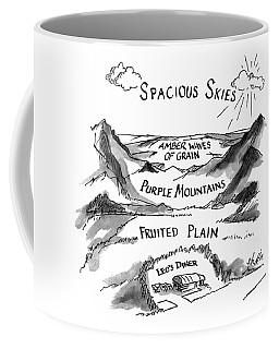 Spacious Skies Amber Waves Of Grain Purple Coffee Mug
