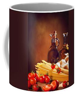 Spaghetti Pasta With Tomatoes And Garlic Coffee Mug