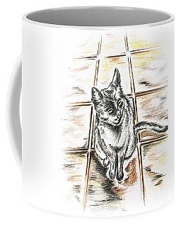 Spanish Cat Waiting Coffee Mug