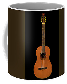Spanish Guitar On Black Coffee Mug