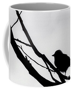 Coffee Mug featuring the drawing Sparrow In A Gray Sky by D Hackett