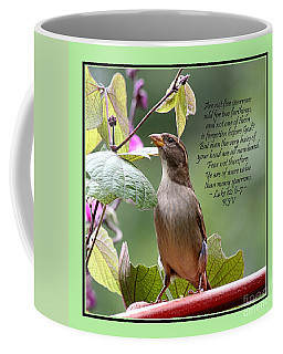 Sparrow Inspiration From The Book Of Luke Coffee Mug by Catherine Sherman