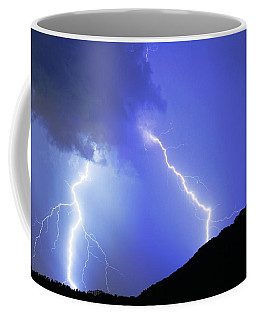 Spectacular Double Lightning Strike Coffee Mug
