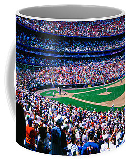 Spectators In A Baseball Stadium, Shea Coffee Mug