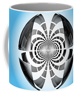 Coffee Mug featuring the digital art Spheroid by GJ Blackman