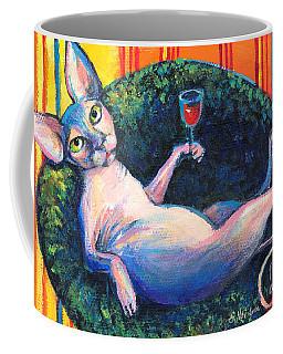 Sphynx Cat Relaxing Coffee Mug