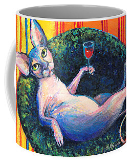 Sphynx Cat Relaxing Coffee Mug