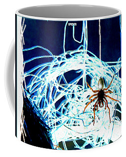 Coffee Mug featuring the digital art Spider by Daniel Janda