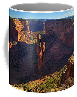 Coffee Mug featuring the photograph Spider Rock Sunrise by Alan Vance Ley