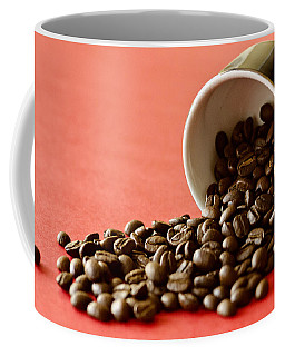 Spill The Beans Coffee Mug by Dee Cresswell
