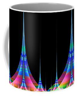 Coffee Mug featuring the digital art Spires by GJ Blackman