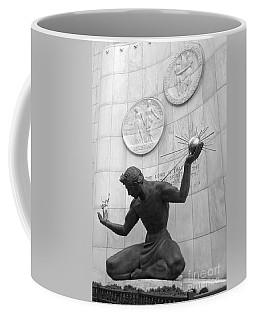 Spirit Of Detroit Monument Bw Coffee Mug by Ann Horn