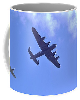 Spitfire  Lancaster Bomber Coffee Mug by John Williams