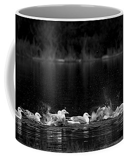 Coffee Mug featuring the photograph Splashing Seagulls by Yulia Kazansky
