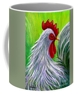 Coffee Mug featuring the painting Splashy Rooster by Sandra Estes