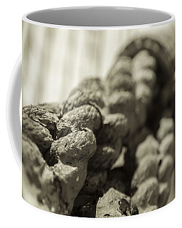 Spliced And Bound Black And White Sepia Coffee Mug