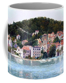 Split Harbour Croatia Coffee Mug by Jan Matson