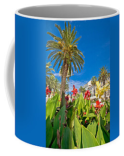Split Riva Palms And Flowers Coffee Mug