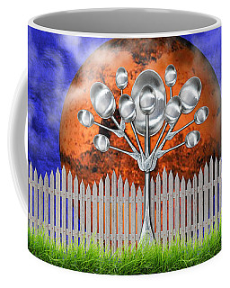 Coffee Mug featuring the mixed media Spoon Tree by Ally  White