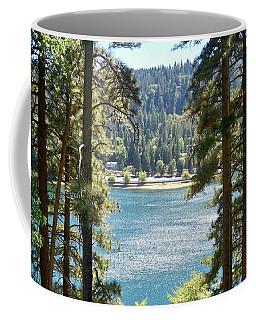 Forrest Mountain Trees Lake Scenic Photography Lake Gregory San Bernardino California - Ai P. Nilson Coffee Mug