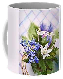 Coffee Mug featuring the painting Spring Flowers by Irina Sztukowski