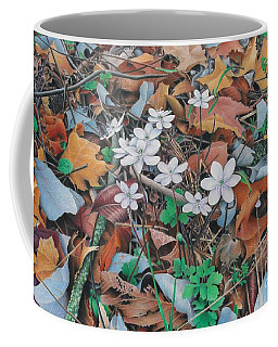 Coffee Mug featuring the painting Spring Forward by Pamela Clements